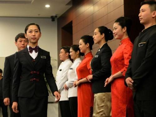 实拍APEC美女服务人员培训[图集]