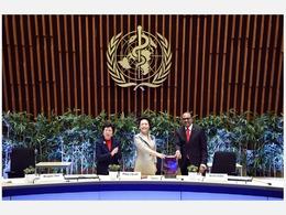 彭丽媛出席世卫组织颁奖仪式[图集]