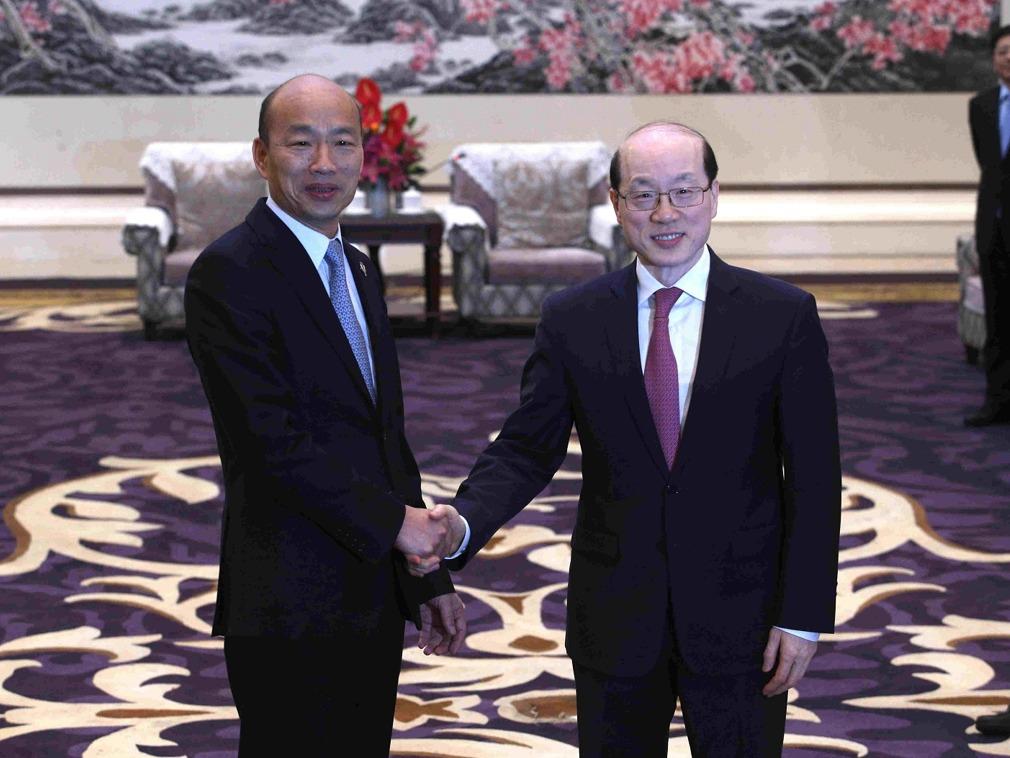 韩国瑜出访大陆与刘结一会面此前未公开 引发台媒争论[图集]