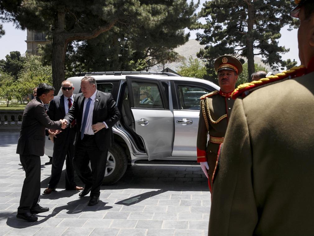 塔利班代表访问中国结束 蓬佩奥突访阿富汗7小时[图集]